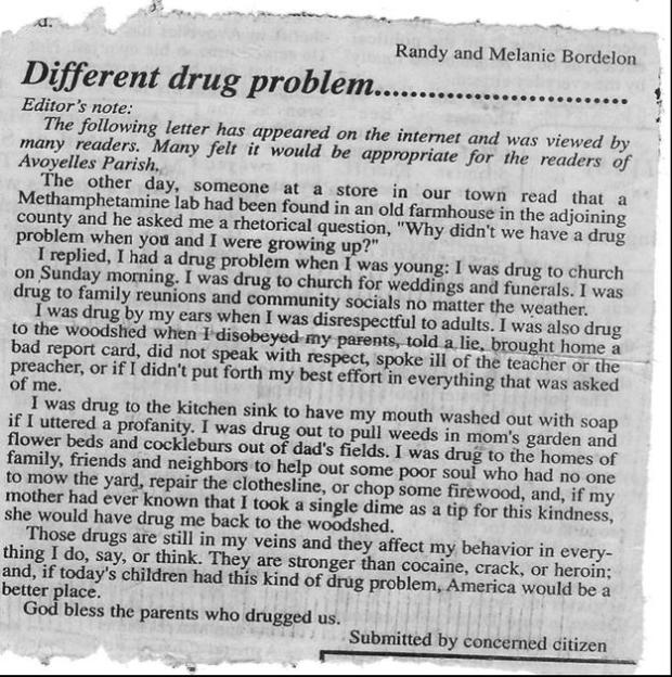 The difference between drugs from years ago and today