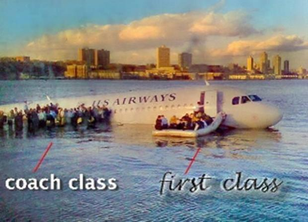 Flight1549 - Coach vs First Class