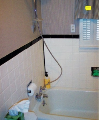 Do you really want the power outlet and toilet paper holder IN the shower?